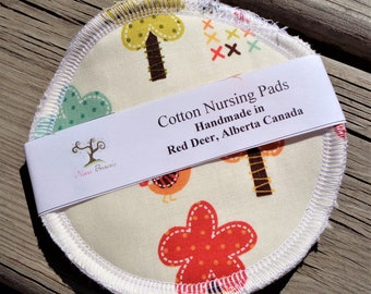 Reusable Nursing Pads, Cotton Flannel Nursing Pads - Whimsical Forest
