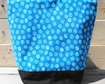 Insulated Lunch Bag - Blue Polka Dot