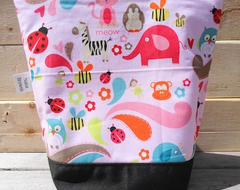 SALE Insulated Lunch Bag - Animals