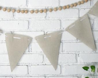 Diy Natural Linen French Style Flag Banner Bunting - Natural Wedding Decor/Bunting/Garland/photo prop