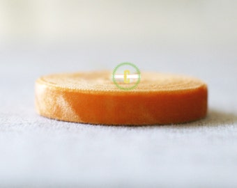 10 yd roll of Orange Velvet Ribbon