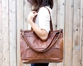 Leather Laptop Bag, Leather Tote, Professional Leather Bag, Attorney Bag, Professional Briefcase, Archive Bag, Made in USA