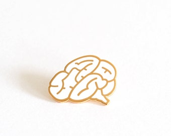 Brain Pin Badge, Brain Brooch, Brain Pins, Brain, Gift for Her, Teacher Gift, Hard Enamel Pin, Brooch, Lapel Pin, Graduation Gift, RockCakes
