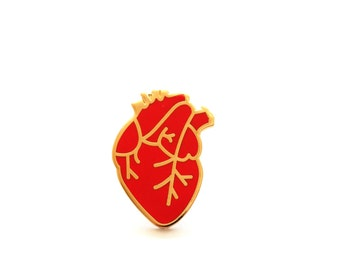 Anatomical Heart, Heart Pin, Enamel Pin, Pin Badge, Pin, Pins, Gift for Her, Gift for Him, Lapel Pin, Wedding Gift, Heart Brooch, RockCakes