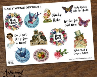 Nasty Woman - Feminist Planner Stickers