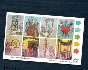 Tarot Erin Condren Planner Stickers Weekly Kit