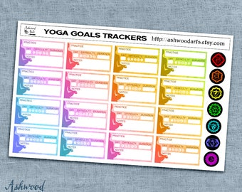 Yoga Goals Tracker Planner Stickers