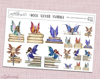 Amy Brown Book Lover Writer Fairy Planner Stickers and Washi Tape Set