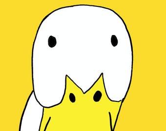 cute duck  Art Print by Giraffes and Robots