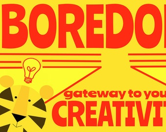 Boredom   Art Print by Giraffes and Robots