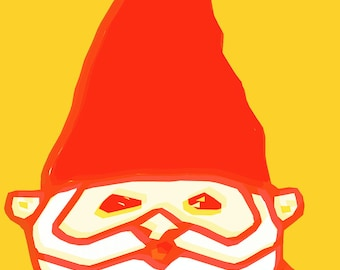 cute gnome  Art Print by Giraffes and Robots