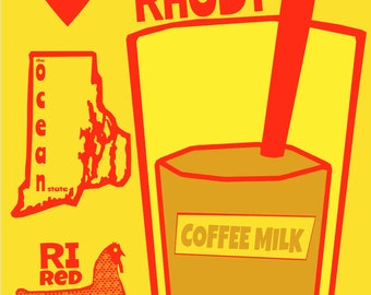 RI Faves  Art Print by Giraffes and Robots