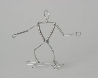 Skateboard Wire Art Gift Ornament