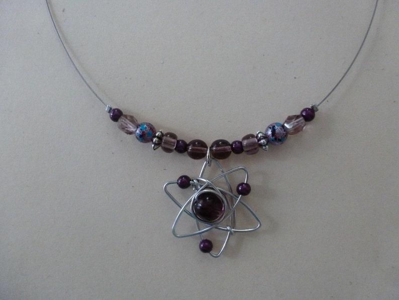 Atom Necklace // Big Bang Theory // Geek Gift image 0