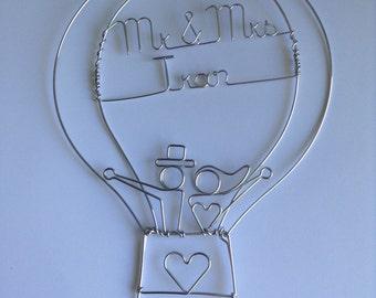Hot Air Balloon gâteaux de mariage: L'amour est dans l'AIR