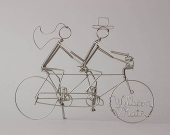 Tandem Bicycle Wedding Cake Topper with Riders: ROYAL WEDDING