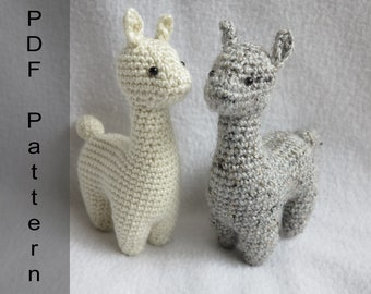 Alpaca Crochet Pattern Llama Amigurumi Pattern Cuddle Toy Stuffed ... | 270x340