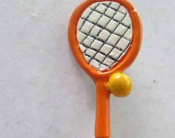 0311b8264c48c Tennis racket pin | Etsy