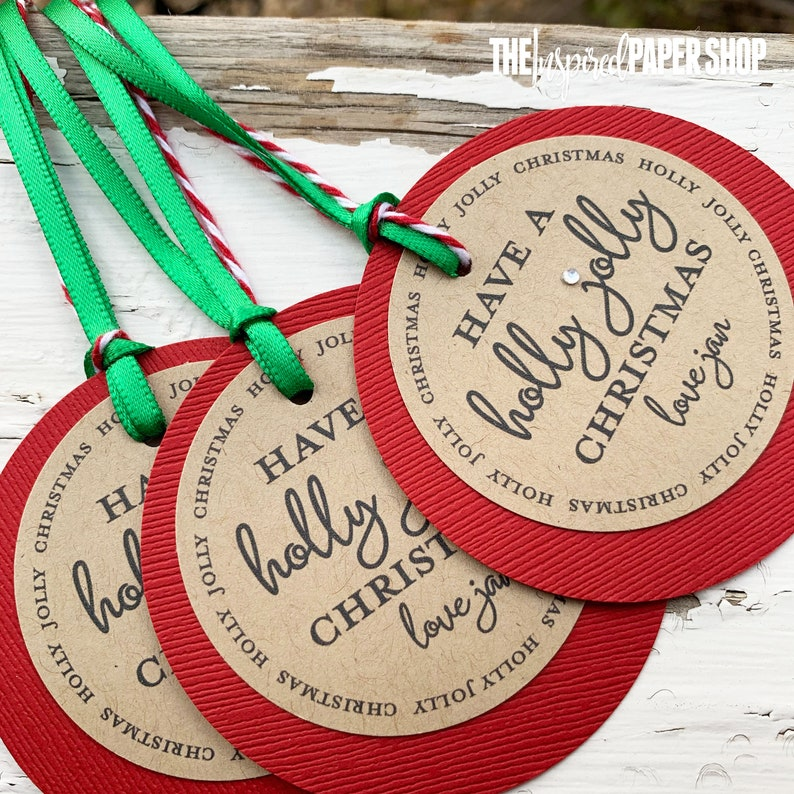 Christmas Gift Tags / Unique Customized Gift /Have a Holly image 0