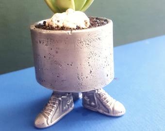 Pewter Planter Pot, Vase, Succulent, Mini Cup, Funny Pots, Sneaker Vase, Pewter Art