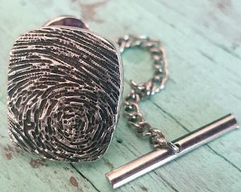 Fingerprint Tie Tack, Lapel Pin, Tie Tac, Tie Clip, Neckties