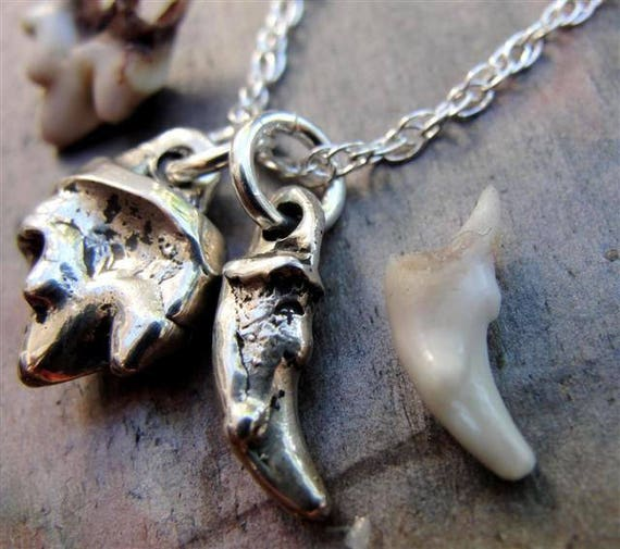 Canine Tooth Necklace Dog Teeth Pendant Custom Sterling Silver Personalized Jewelry