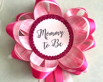 Baby Shower Pins - Mommy to Be Shower Corsage Pin- Grandma to Be Shower Corsage Pin