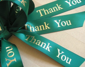 Thank You Ribbon  - Choose Your Colors - 100 yards