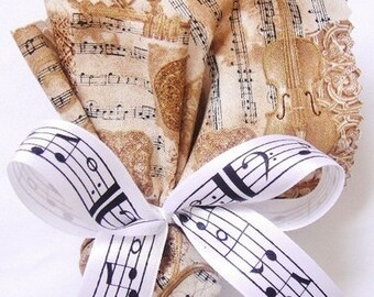 Sheet Music Ribbon  - Choose Your Colors - 25 yards