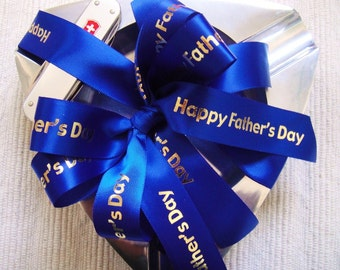 Happy Father's Day Ribbon  - Choose Your Colors - 25 yards