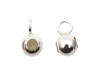 Großverkauf Versilbert Blumen Perlen Beads Ende Kappen 6x5mm