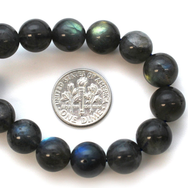 Smooth Round Shape Full 15 Inch Strand SKU: 370005-10 Natural Labradorite Gemstone Beads 10mm Labradorite Beads 10mm