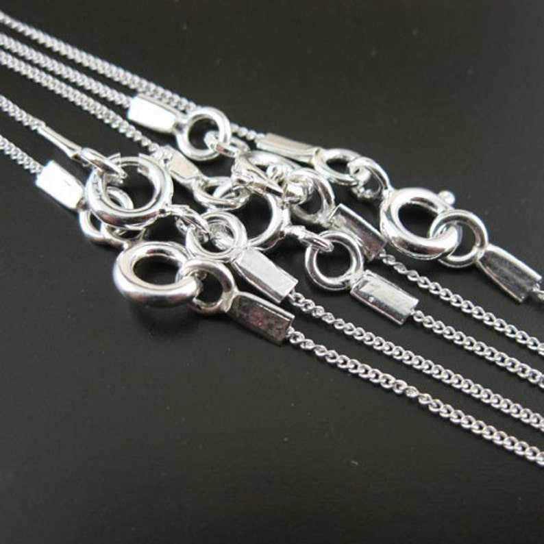 925 Sterling silver Necklace Sterling Silver Chain Necklace image 1