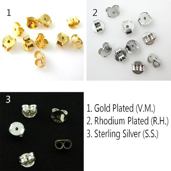 100  x Silver Plated Butterfly Earring Backs Earnuts//Stoppers