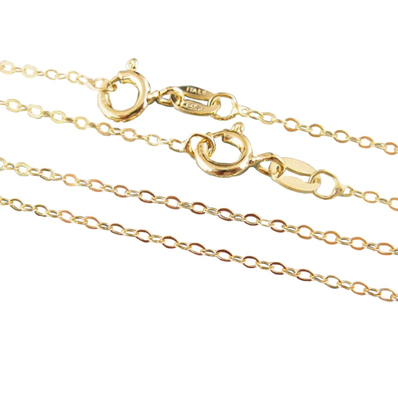 3bbc995968fb9 Gold Necklace, 22K Gold Plated, Vermeil-Sterling silver  Chain-Necklace-Cable Flat Oval-Finished Necklace- 36 inches (1 pc) SKU:  601043-VM-36
