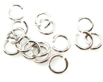 Jump Rings-Jewelry Findings-Sterling Silver Findings-Rhodium Plated over Silver Jumprings-21 ga,gauge-4mm ( 20pcs ) SKU: 205121-040RH JP21