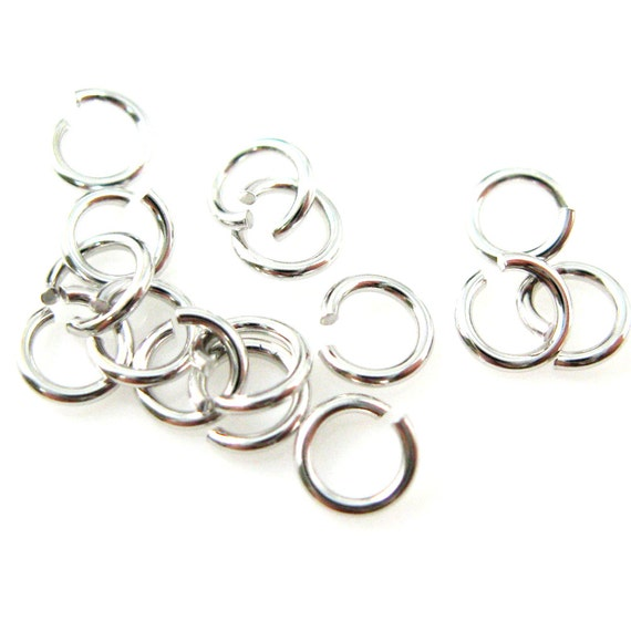 100pcs 4mm Making Jewelry Findings Sterling Silver Plate Opening Jump Rings DIY