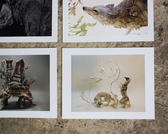 """Choose Any Four (4) 8.5x11"""" Giclee Limited Edition Prints"""