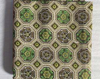 Vintage geometric crafting heavy cotton yardage pillows purses decor