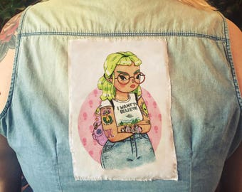 i want to believe - sew on patch