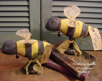Primitive To Bee Not To Bee Make Do Instant Digital Download E-Pattern  ET