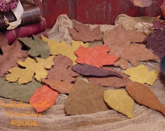 Autumn Leaves, Cupboard Tucks, Fall Ornies, Harvest Bowl Filler Instant Digital Download E-Pattern ET
