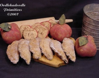 Little Fried Apple Pies Primitive Cupboard Tucks Instant Digital Download E Pattern  ET