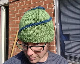 Green and Blue Spiral Hat