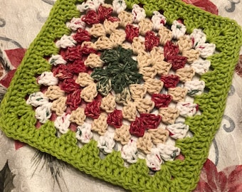 Crochet granny square dish cloth new