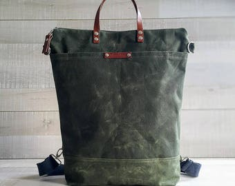 0981715096764 Waxed Canvas Backpack