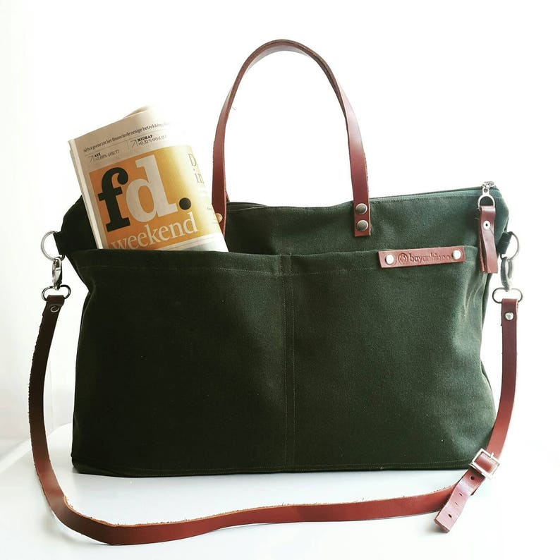 Waxed Weekender canvas Tote Bag Awesome Top seller  01c2f88d7c388