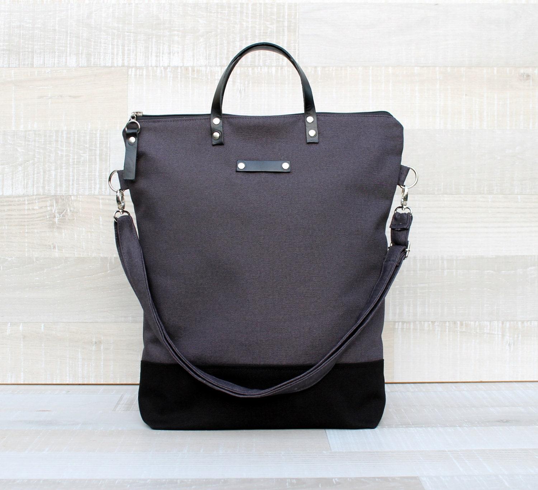 0f55b29008 Comfort Unisex Tote canvas tote bag dark grey black tote