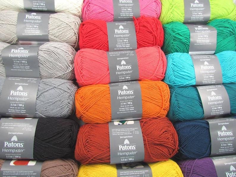 Patons Cotton Hemp Hempster Sport Weight Yarn 18 Balls one of each color
