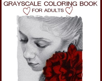 Grayscale Coloring Etsy